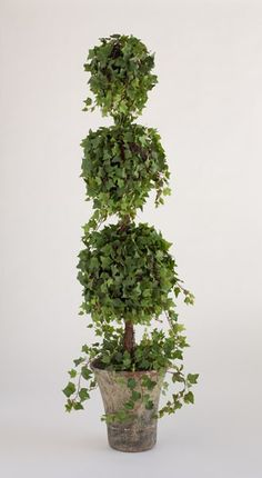 Artificial Potted Topiary Tree 3//4FT Spiral Vine Bay Potted Plant Outdoor Garden