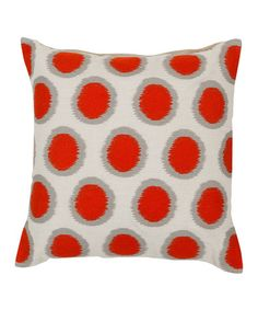 Take a look at this Orange Red Linen Pillow by Surya on #zulily today! $64.99-109.99, regular 154.00-270.00