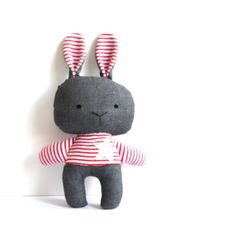 Bunny softie stuffed bunny rabbit toy soft toy rag от ZazoMini