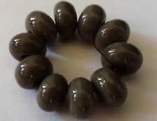10 EARTH SPACER LAMPWORK BEADS SRA