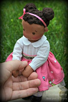 "Chrysanthemum- 8.5"" Petite Fleur handmade natural fiber doll by Mon Petit Frère | by MonPetitFrere"