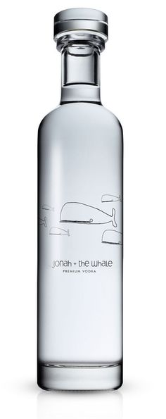 Jonah + the whale premium vodka.   This one is  just a shame. To take such an elegant bottle and put those lame, childish illustrations of whales on it. …I just think this could have been crafted so much better for a premium product. (sniff)
