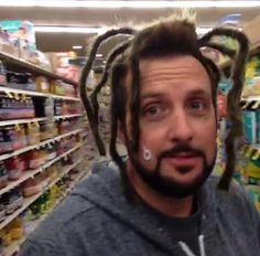 Ghost Adventures: Billy Tolley looking like he has a spider on his head... Looks like he has funky ass dreads