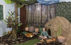 Whether searching for the 'Gruffalo', Going on a Bear Hunt, recreating a fairy tale or going 'camping', use our fantastic photographic backdrops, basic art room materials and a little imagination to transform an area of your school into a versatile 'enchanted' woodland learning area that everyone will love!