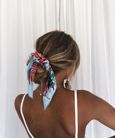 scarf for hair, hair scarf hairstyles Pretty Hairstyles, Easy Hairstyles, Bandana Hairstyles For Long Hair, Hairstyle Ideas, Stylish Hairstyles, Straight Hairstyles, Headband Hairstyles, Summer Hairstyles, Hair With Bandana