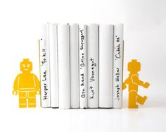 Bookends shelf decor Lego men read too II  FREE SHIPPING these bookends will hold your child's favorite books. Great for kids' room