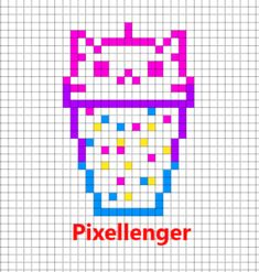 Drink cup like kitty Pixel Art Templates, Perler Bead Templates, Diy Perler Beads, Perler Bead Art, Graph Paper Drawings, Art Drawings For Kids, Melty Bead Patterns, Beading Patterns, Pixel Pattern