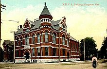 Postcard of the Y.M.C.A. Building in Kingston, Ontario, Canada c. 1908