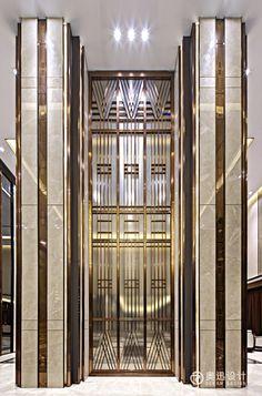38 New Ideas Bedroom Luxury Hotel Art Deco Interior Columns, Lobby Interior, Interior Architecture, Interior Design, Luxury Interior, Revit Architecture, Hotel Bedroom Design, Design Hotel, Accor Hotel