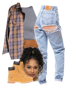 """""""The 90's are all that 2"""" by trillest-fashion on Polyvore featuring Timberland"""