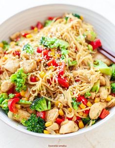 Cooking Recipes, Healthy Recipes, Noodles, Paleo, Food And Drink, Menu, Favorite Recipes, Lunch, Chicken