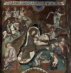 Nativity and First Bath of the Christ Child Creator unknown  http://inpress.lib.uiowa.edu/Feminae/DetailsPage.aspx?Feminae_ID=30979