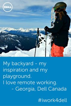 Work from home, work successfully. It's about balance and Dell gets it. Meet Georgia, who supports the Asia Pacific region remotely from Dell Canada. Read more about her Dell story at http://www.dell.com/learn/au/en/aucorp1/careers/careers-testimonial-georgia-hybner.
