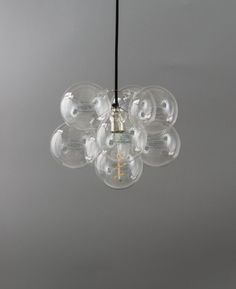 bubble chandelier single point 8 bauble