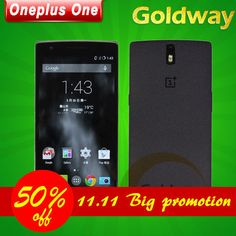 """Find More Celulares Information about Oneplus Original um 4 G LTE Mobile Phone 5.5 """" FHD 1920 x 1080 P 2.5 GHz 3 GB RAM 16 GB Android 4.4 13.0MP NFC CM11 para 11.11,High Quality Goldway,China assinar aviso prévio Suppliers, Cheap Advertência from Hong Kong Goldway on Aliexpress.com"""