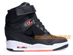 Officiel Nike Wmns Air Revolution Sky Hi 2015 Chaussure Nike Pas Cher Pour Femme Noir/Rouge 599410-016