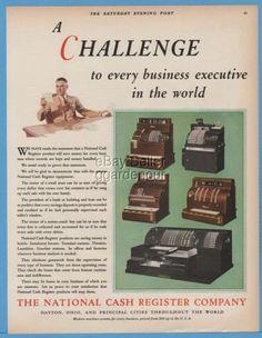 1929-National-Cash-Register-Dayton-Ohio-Five-Models-Vintage-NCR-Color-Photo-ad
