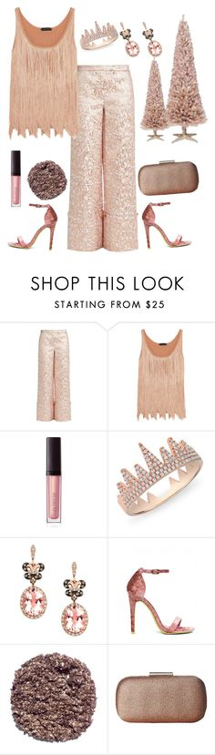 """""""Rosey Christmas Party🎄🎄🌟🌟"""" by parnett ❤ liked on Polyvore featuring Osman, Tom Ford, Laura Mercier, Anne Sisteron, Effy Jewelry, Illamasqua and Nina"""