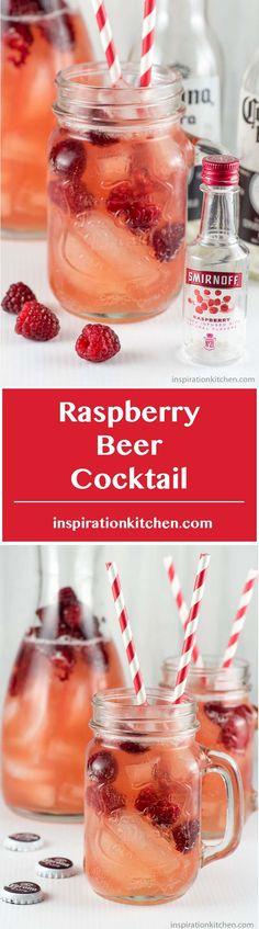 Raspberry Beer Cocktail - inspirationkitchen.com