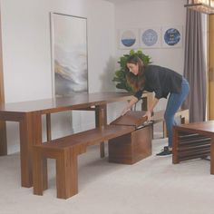 Space Saving Furniture, Home Decor Furniture, Dining Room Furniture, Furniture Decor, Home Furnishings, Diy Home Decor, Furniture Design, Home Room Design, Interior Design Living Room