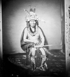 Bear In The Fork of a Tree - An American Indian of the Sauk Nation 1858.