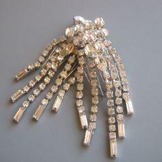 Marilyn - Silver Rhinestone Hair Combs