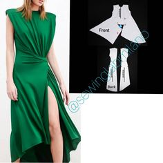 Fashion Sewing, Diy Fashion, Fashion Dresses, Dress Sewing Patterns, Clothing Patterns, Couture Sewing Techniques, Clothing Store Displays, Sewing Blouses, Dress Neck Designs