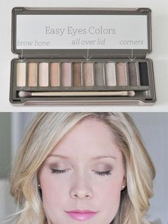 Urban Decay Makeup, Urban Decay Eyeshadow, Neutral Eyeshadow, Eyeshadow Palette, Urban Decay Palette, Naked Palette, Natural Eyes, Natural Makeup, Natural Beauty