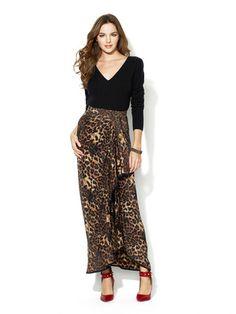 Rebecca Minkoff Long Bonnie Silk Cascade Skirt