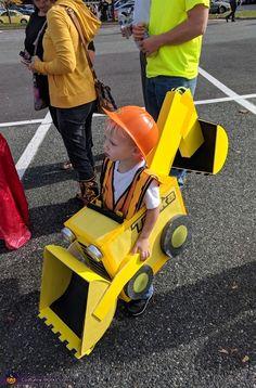 Tonka Backhoe Truck Costume - Halloween Costume Contest