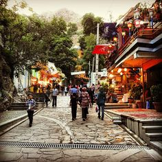 "Iran,""Here is Darband,beautiful place near the mountain,with fresh air,in holidays people go there for waking, mountain climbing and you can eat different…"""