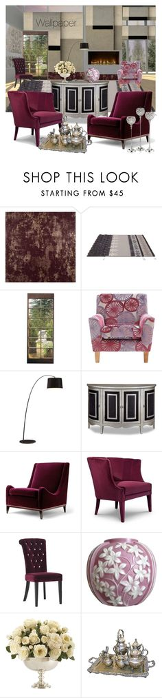 """""""Wallpaper"""" by nicolevalents ❤ liked on Polyvore featuring interior, interiors, interior design, home, home decor, interior decorating, WALL, Zuo, Ethan Allen and Leeber Limited"""