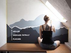 Tipps für das DIY Malerprojekt Berge an die Wand malen