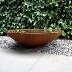 Corten Steel Water Bowl | The Pot Company. Garden Plant Pots | Garden Planters | Planters | Terracotta Pots | Large Plant Pots
