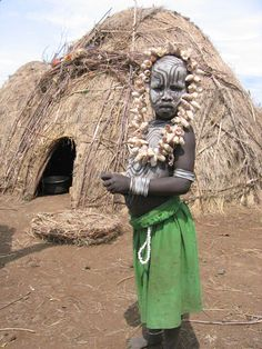 Africa | Mursi Tribe boy in the Lower Omo Valley (Ethiopia)