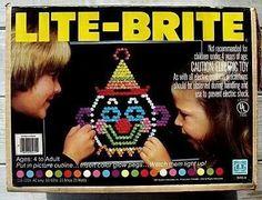Lite brite! I miss this.