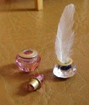 how to: inkwell and perfume bottle with removable top