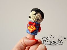 Krawka: Cute set of crochet finger puppets with FREE patterns. Justice League : Superman
