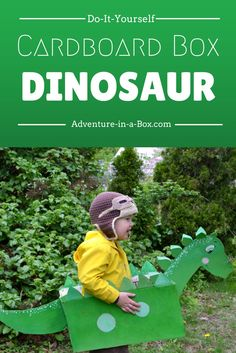 Make a cardboard box dinosaur and have a prehistoric adventure! A fun craft for kids who love dinosaurs.