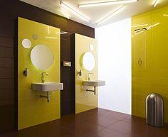indeling douche en wasbak + klein wandmeubel  bathroom  Pinterest