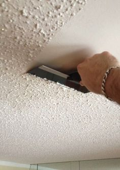 How to Remove Popcorn Ceiling - Bob Vila. MATERIALS AND TOOLS - Plastic sheeting - Masking tape - Dust mask - Protective goggles - Wide putty knife - Ladder - Garden sprayer - Metal file - Paint