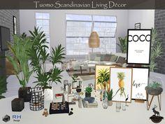 sims 4 cc // custom content decor clutter // the sims resource // RightHearted'. sims 4 cc // custom content decor clutter // the sims resource // RightHearted's Tuomo Scandinavian Living Decor Sims 4 Cc Furniture Living Rooms, Living Room Decor Set, Decor Room, Living Room Sims 4, Sims 4 Mods, Muebles Sims 4 Cc, Sims 4 Kitchen, Pelo Sims, Sims 4 Bedroom