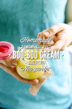 Homemade Healing Boo Boo Cream: Like Neosporin