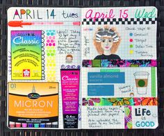 Pages in my faux-bonichi journal.  So much fun!