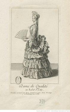 Dame de Qualité en habit d'Esté : [estampe] / Dessiné et gravé par Bern. Picart en 1706 avec Privilège ; G. Duchange ex. CPR