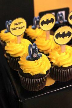 Batman themed birthday party via Kara's Party Ideas KarasPartyIdeas.com…