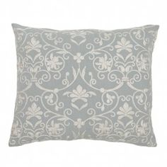 30% OFF Teal Swirl Embroidered Pillow