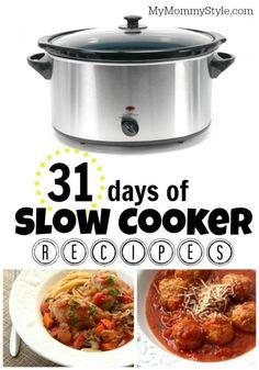 31 days of slow cooker recipes, crock pot, slowcooker, crockpot, crock-pot, slow-cooker, fall recipes, dinner recipes