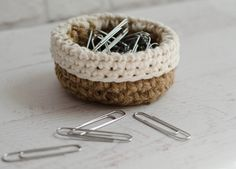 The other day I was looking at my crochet jute basket and the most brilliant upon brilliant idea came to me…  what if I could make a teeny tiny mini crochet jute basket to hold my paperclips for work.  You see, by day, I work for a school district.  I have an ancient U-shaped desk...Read More »