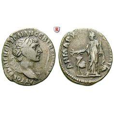 Römische Provinzialprägungen, Arabia, Bostra, Traianus, Drachme, f.ss: Arabia, Bostra. Drachme 18 mm. Kopf r. mit Lorbeerkranz,… #coins